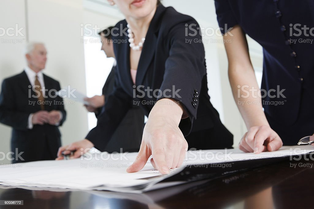 Corporate planning meeting in conference room. royalty-free stock photo
