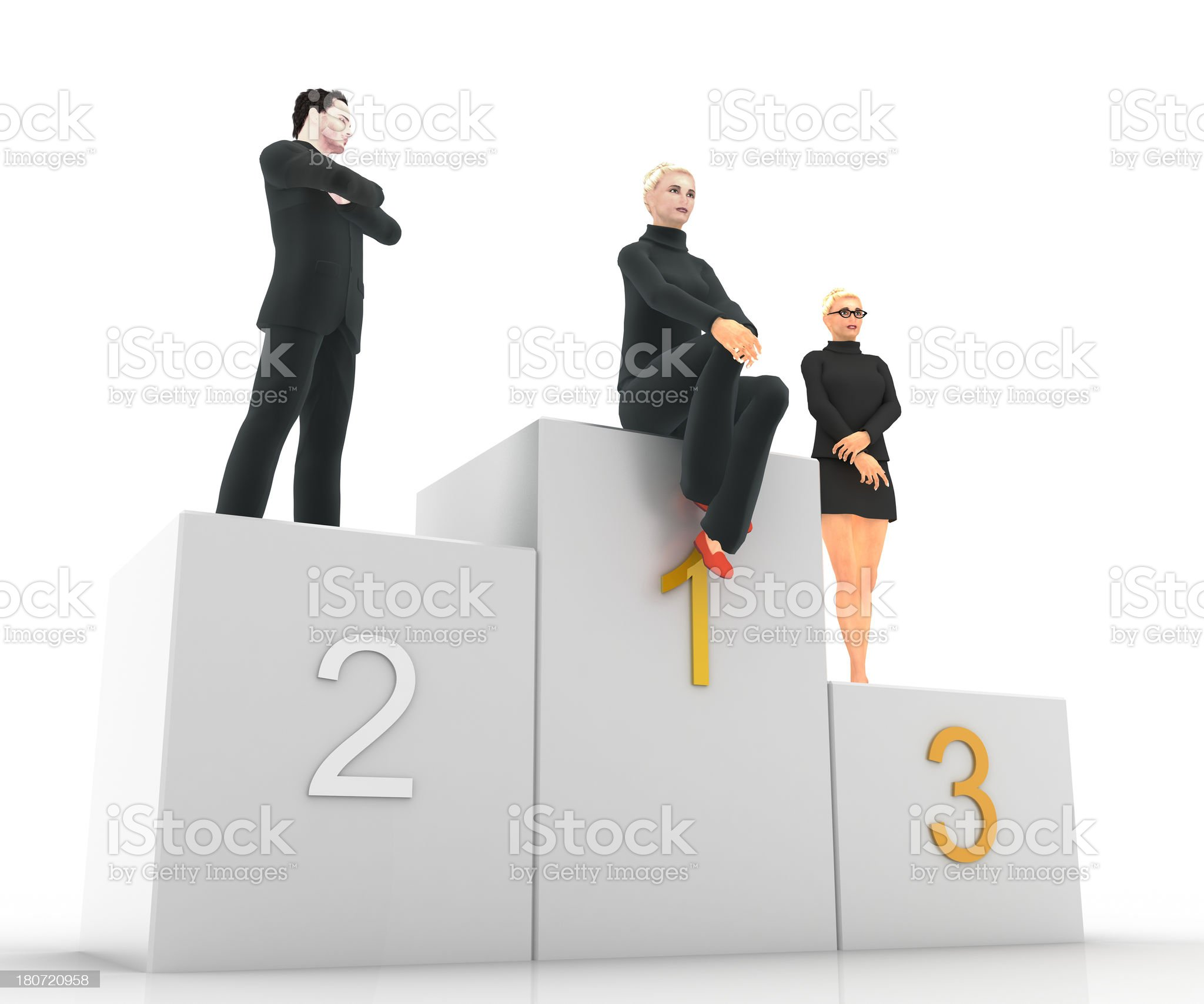 Corporate Podium royalty-free stock photo