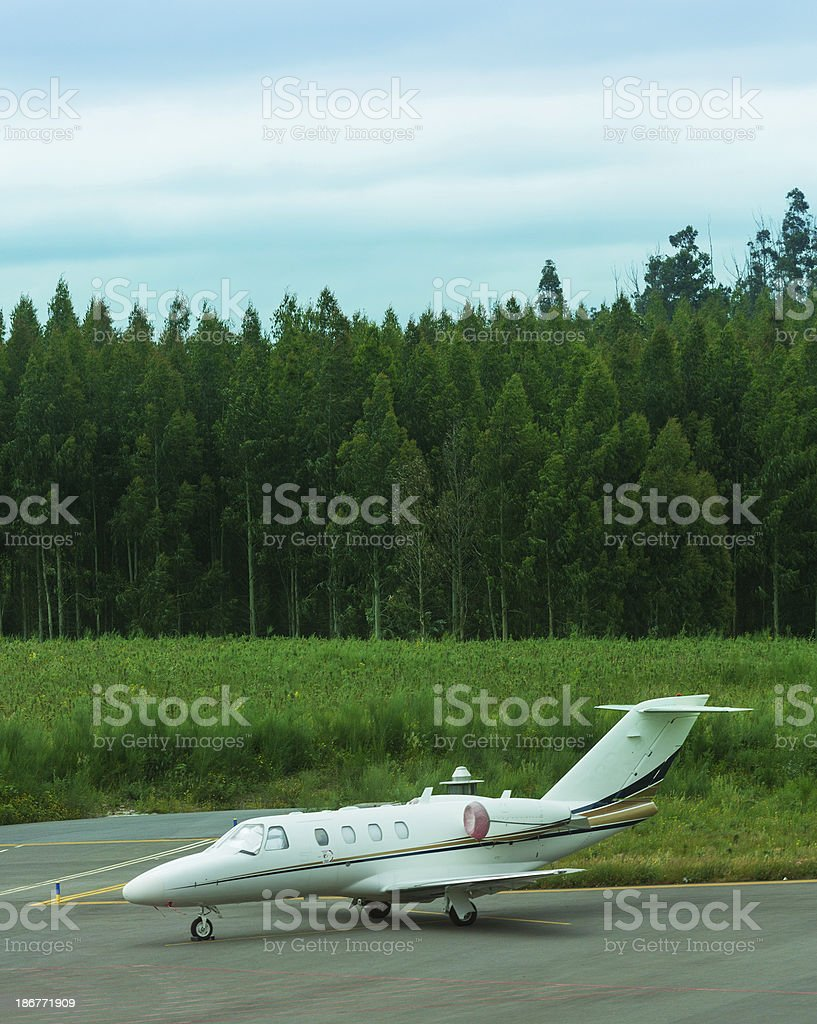 corporate private jet royalty-free stock photo