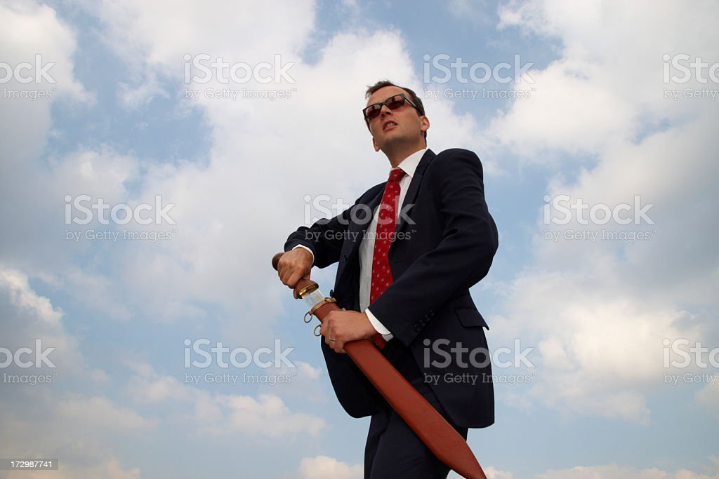 Corporate Raider stock photo