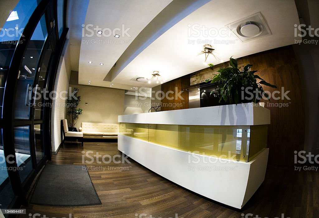 Corporate reception royalty-free stock photo