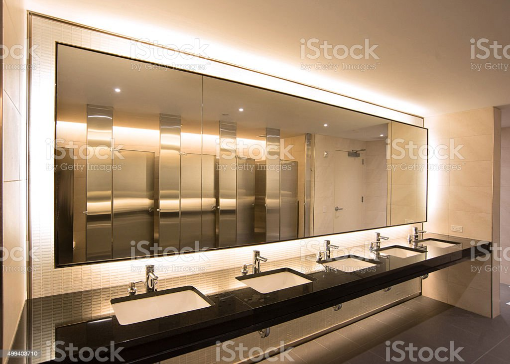 corporate restroom stock photo