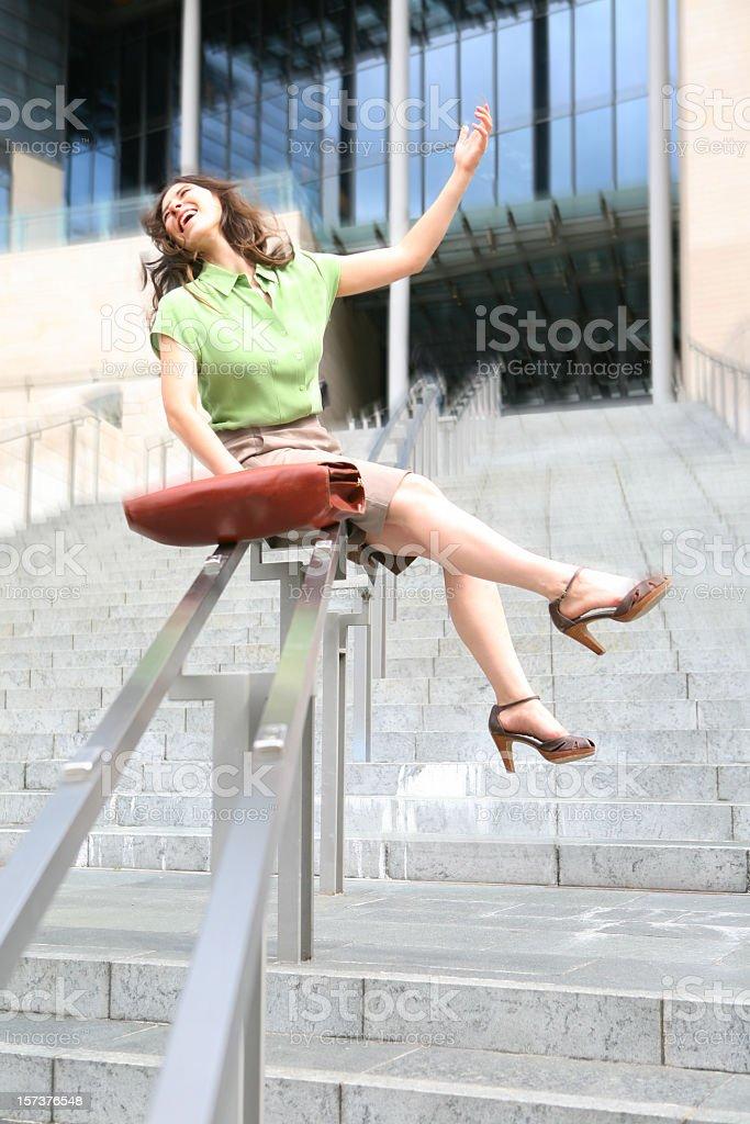 Corporate Roller Coaster stock photo