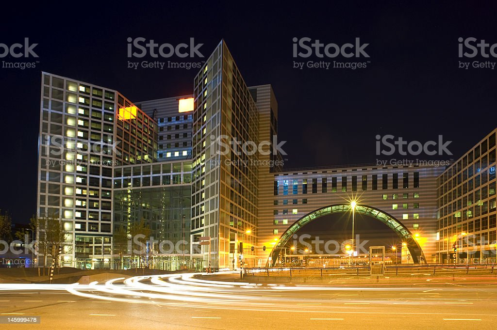 Corporate roundabout stock photo