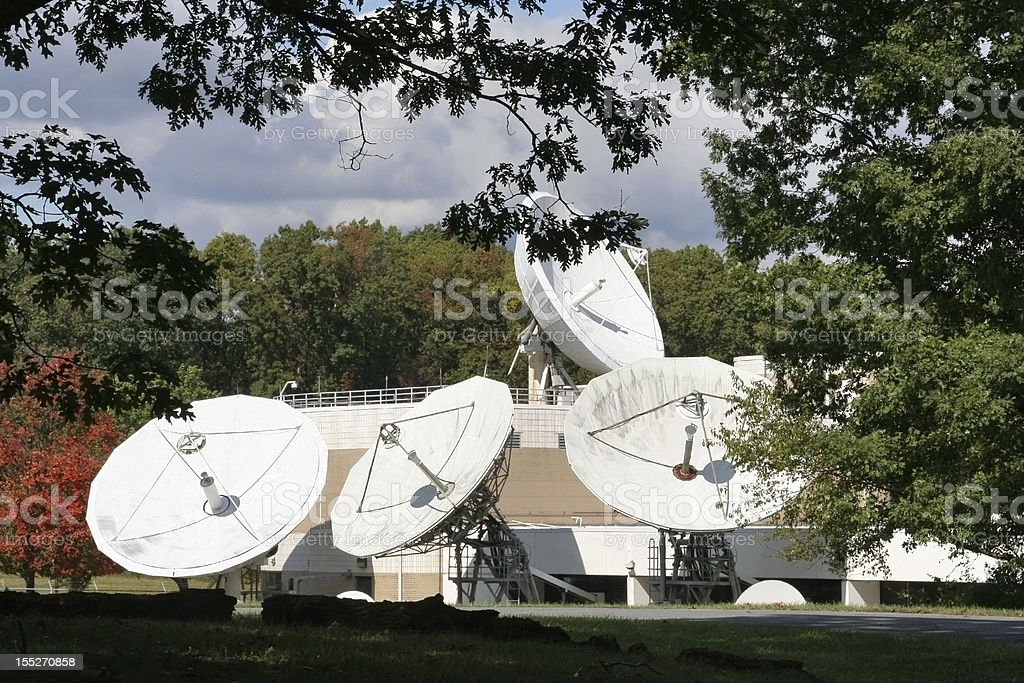Corporate satellite dishes royalty-free stock photo