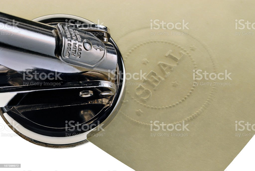 Corporate Seal and Embosser (or Notary Public Stamper) stock photo
