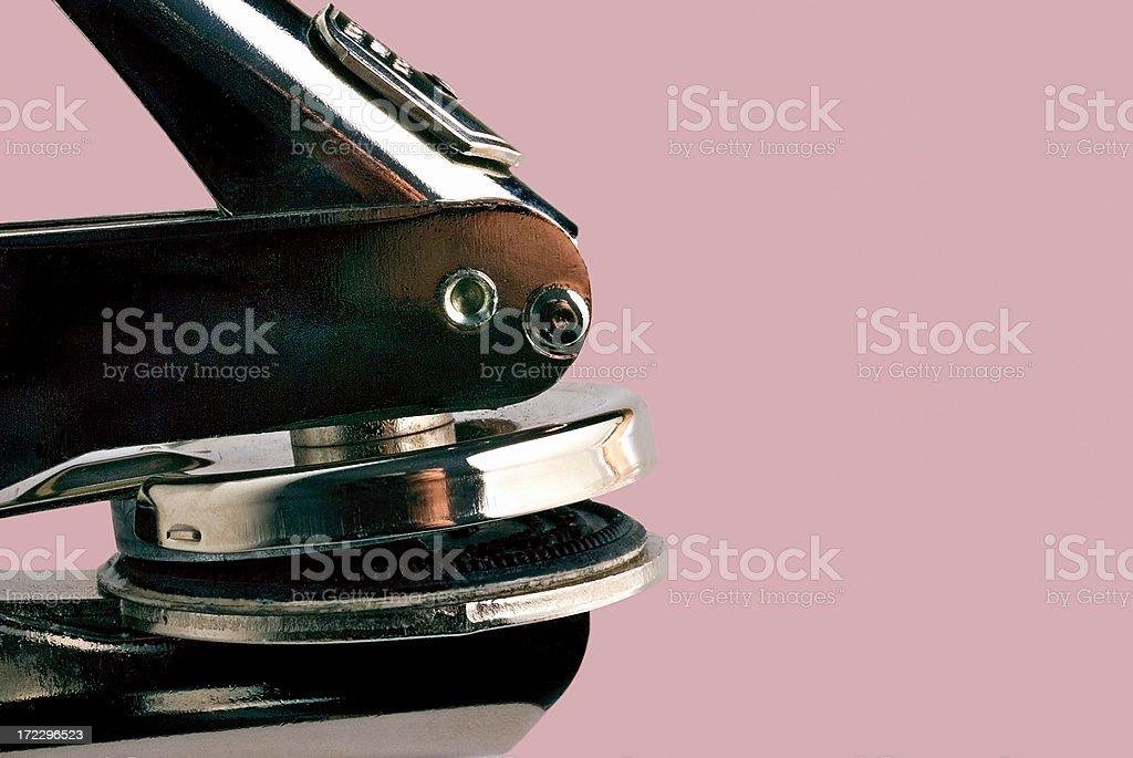 Corporate Seal Embosser stock photo