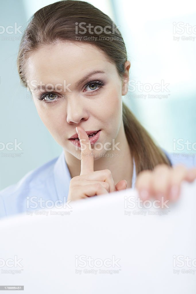 Corporate secrets royalty-free stock photo