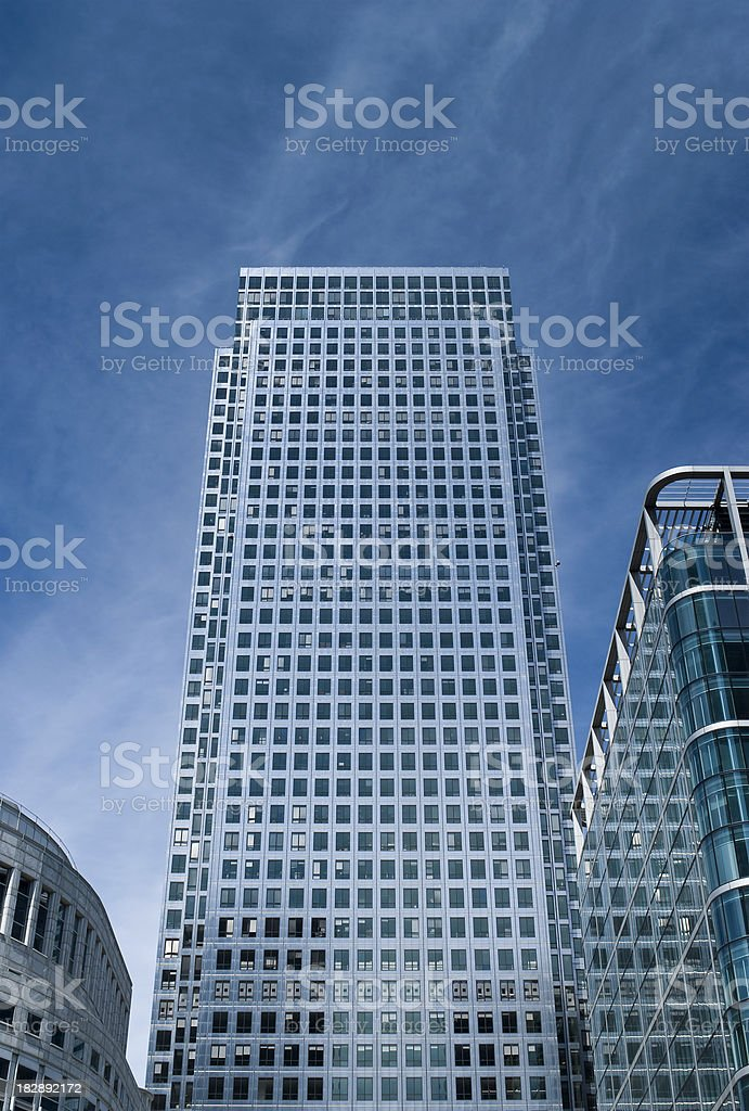 Corporate skyscrapers, Canary wharf, London stock photo