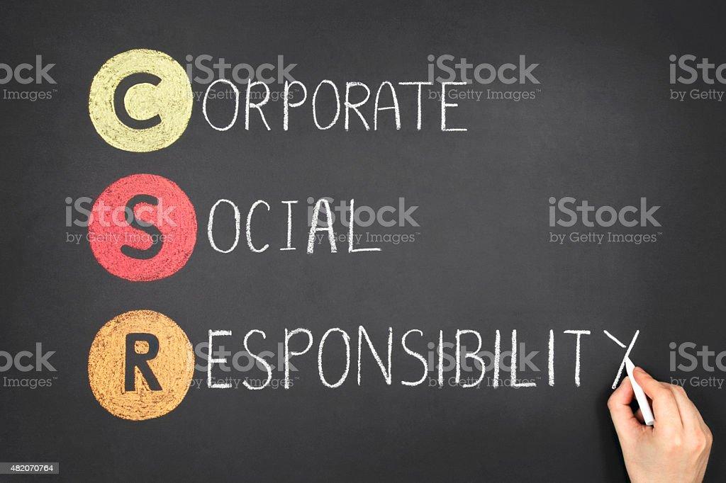 Corporate Social Responsibility (CSR) stock photo