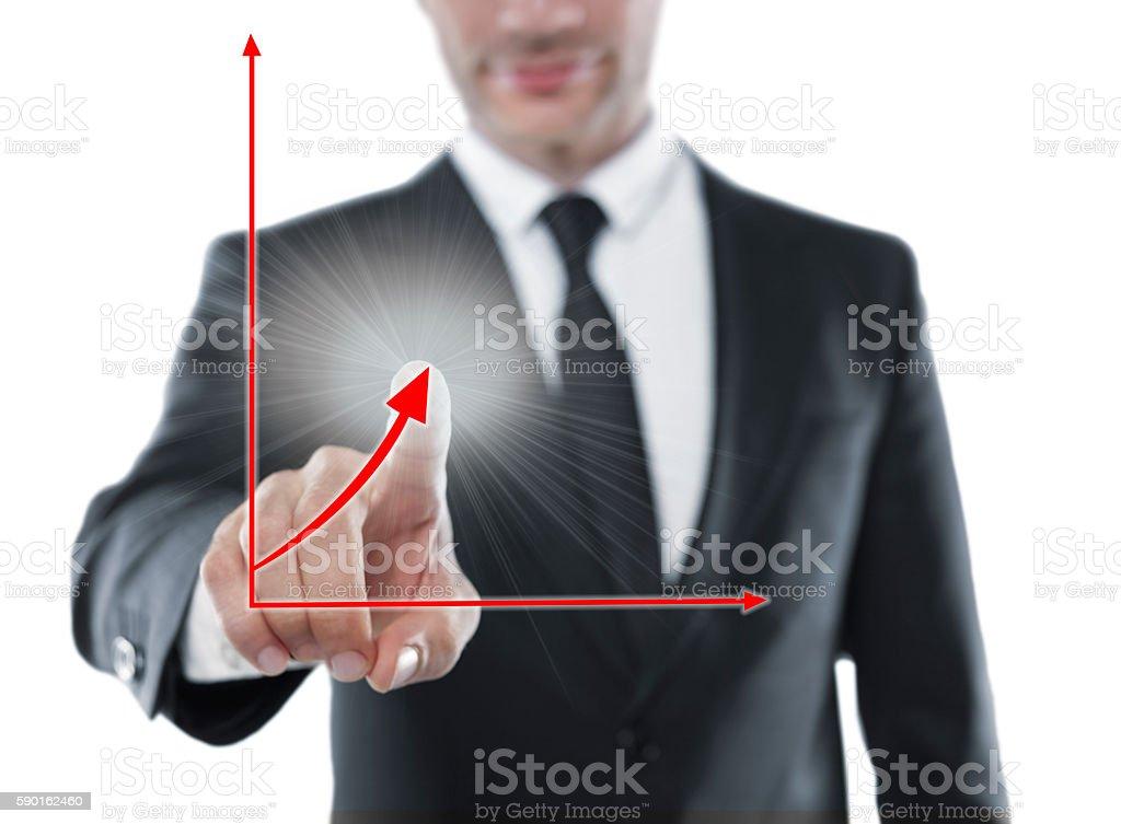 Corporate success graph stock photo
