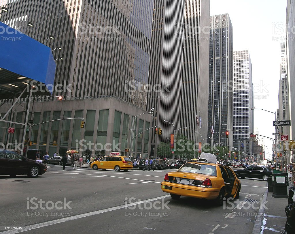 Corporate Taxi Cab Ride stock photo