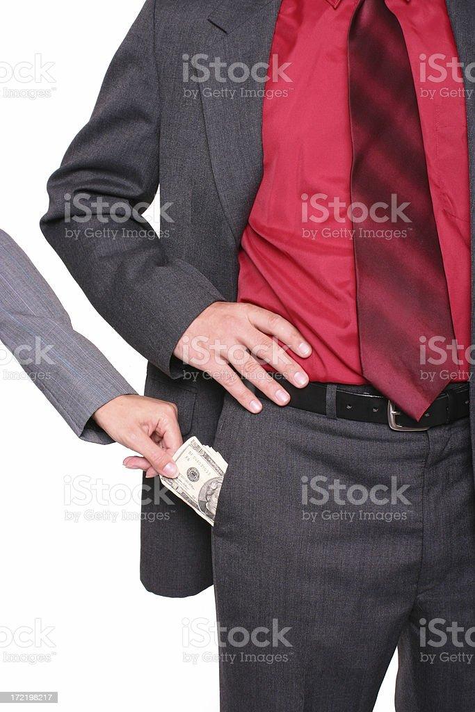 Corporate Theft 2 stock photo