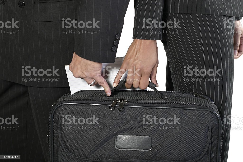 Corporate Theft stock photo