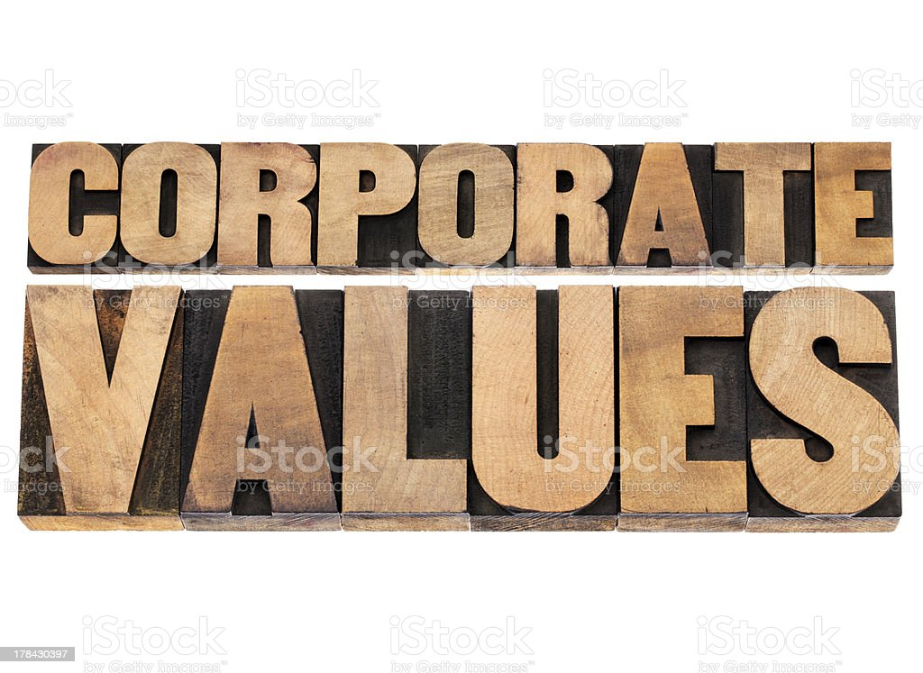 corporate values royalty-free stock photo
