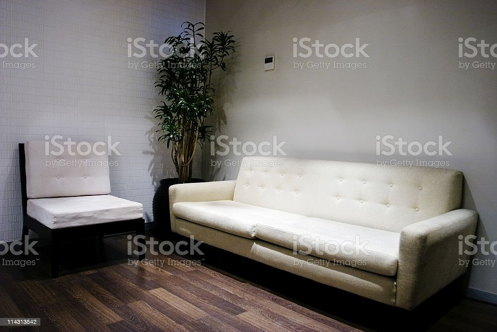 Corporate waiting room royalty-free stock photo