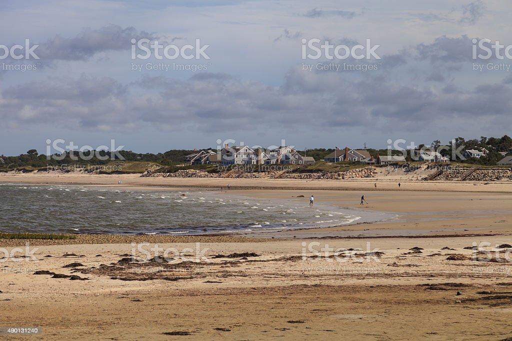 Corporation Beach in Dennis, Massachusetts on Cape Cod stock photo
