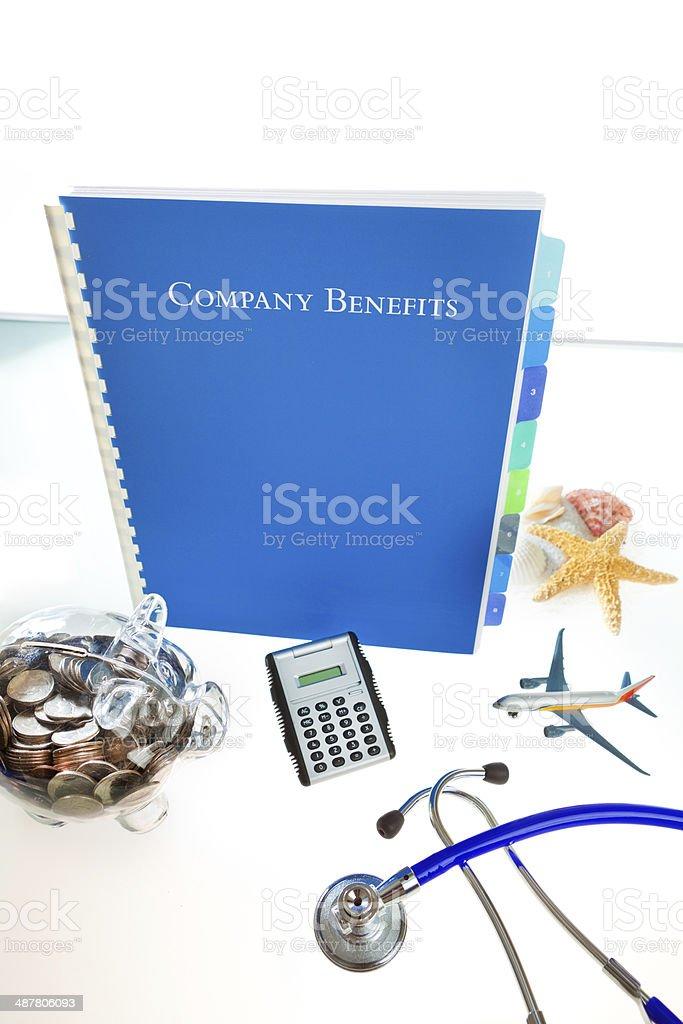 Corporation Employee Benefits Vertical stock photo