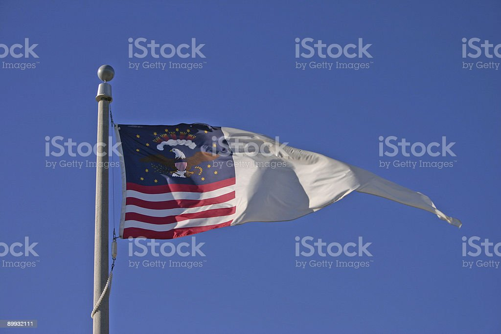 US Corps of Discovery Flag/Banner royalty-free stock photo