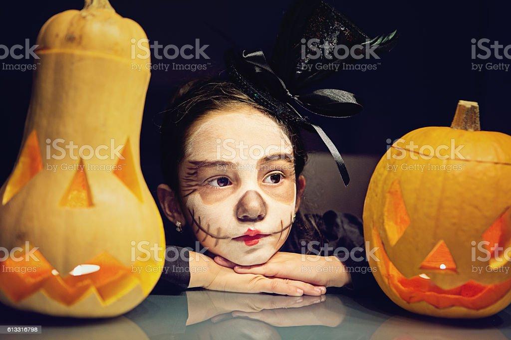 Corpse bride at Halloween stock photo