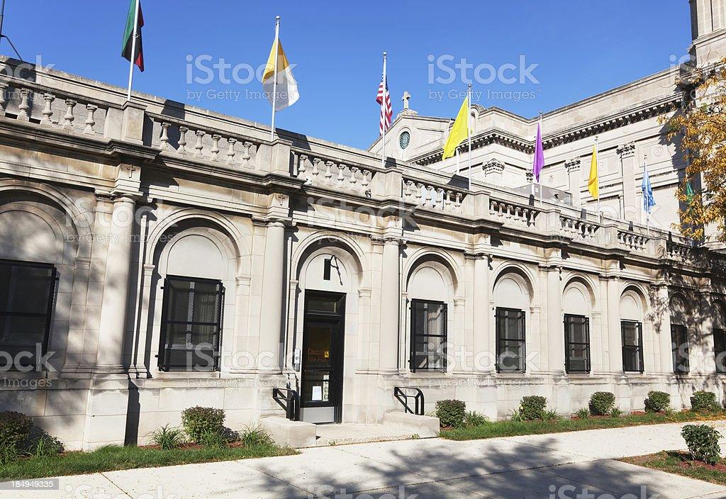 Corpus Christi Church Parish Offices in Grand Boulevard, Chicago stock photo