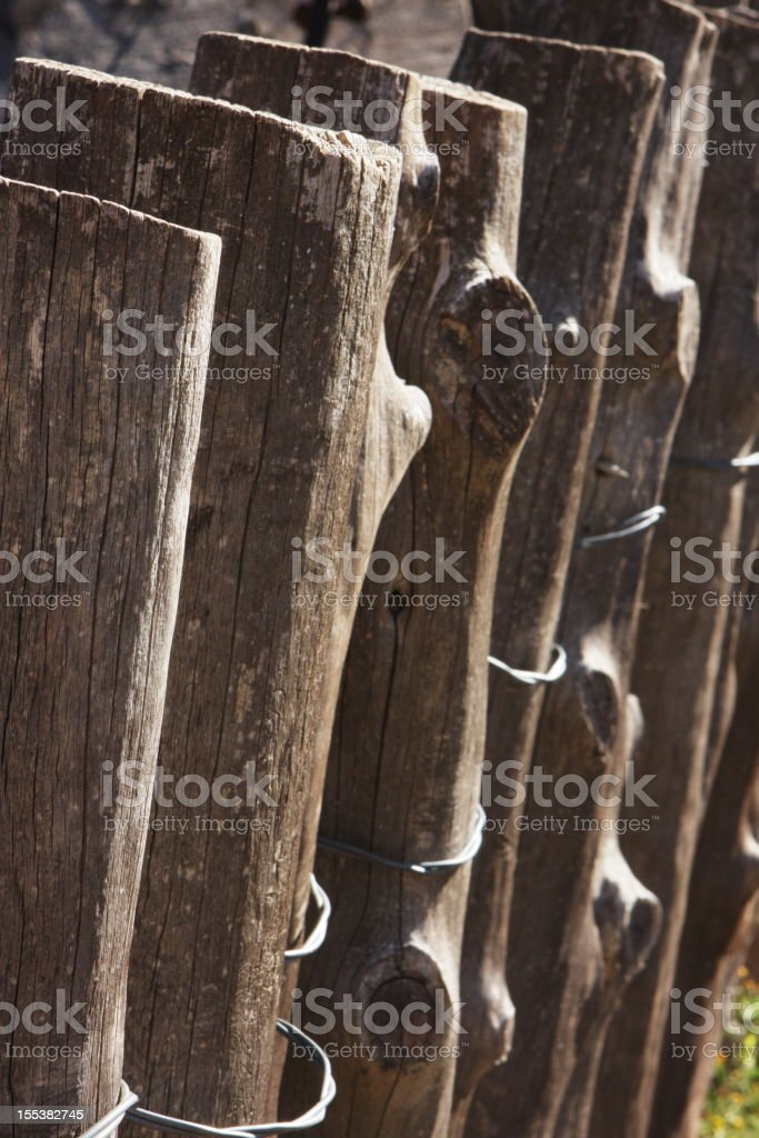 Corral Fence Post Animal Pen stock photo