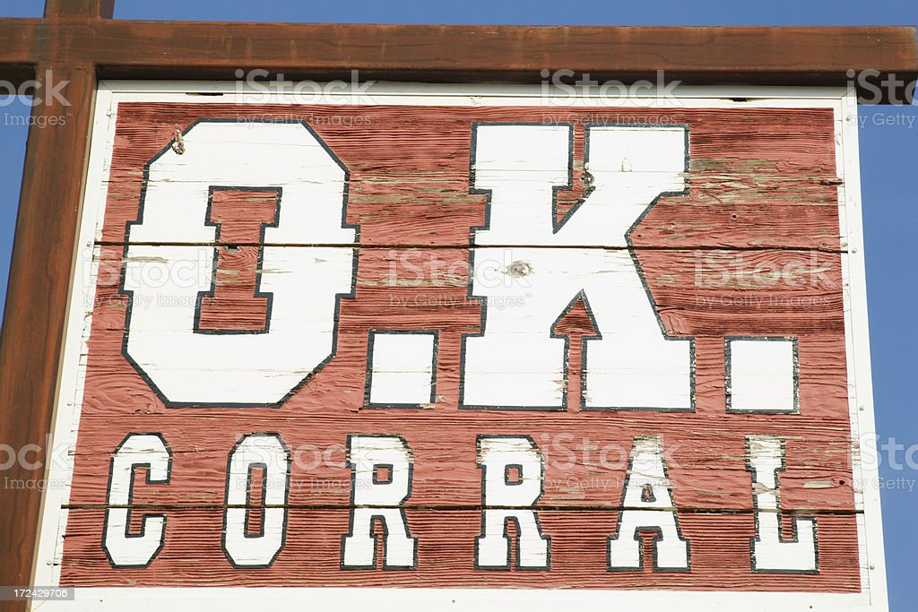 O.K. Corral in Tombstone, Arizona stock photo