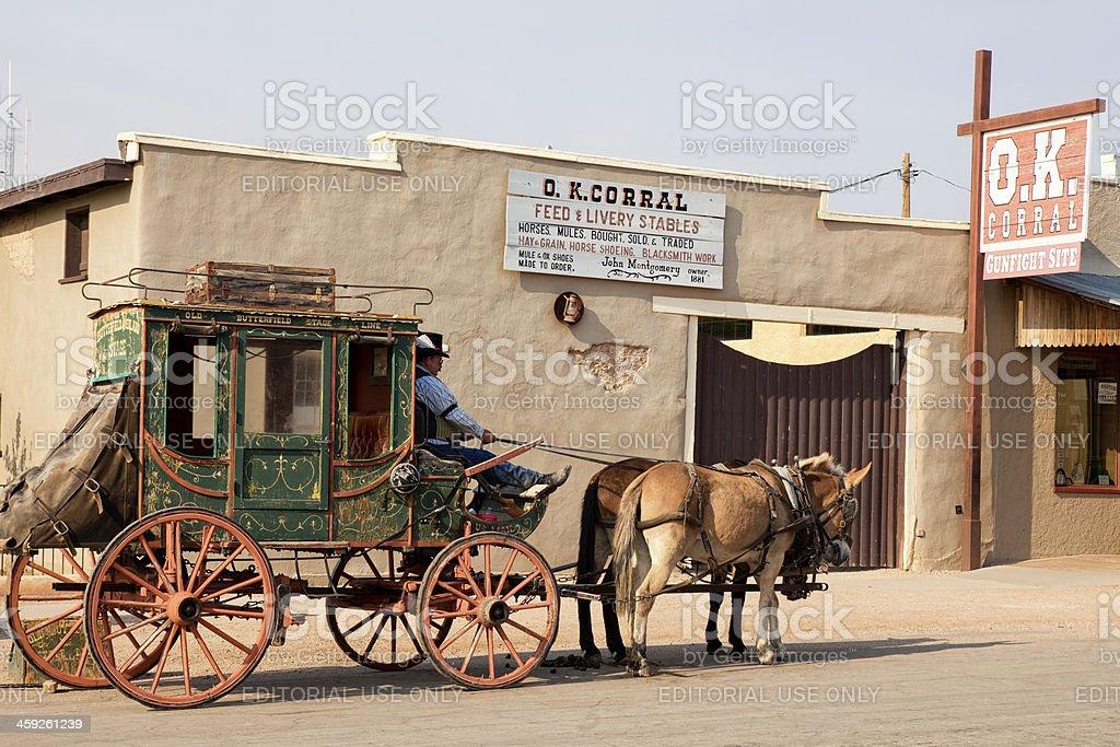O.K. Corral in Tombstone, Arizona stock photo