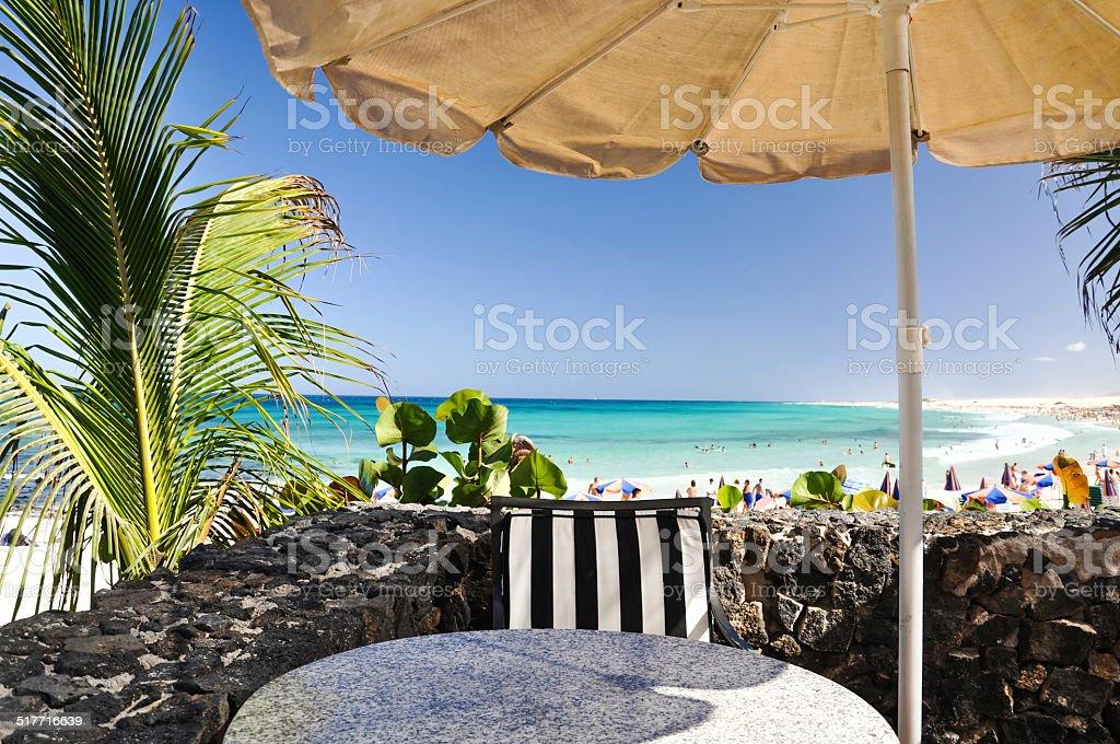 Corralejo Beach on Fuerteventura, Canary Islands stock photo