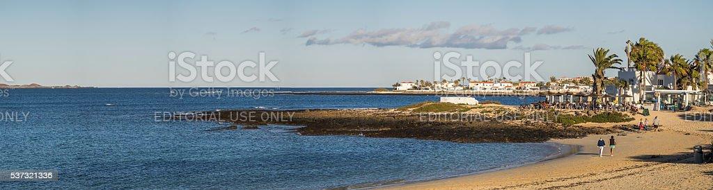Corralejo coastline and resorts stock photo