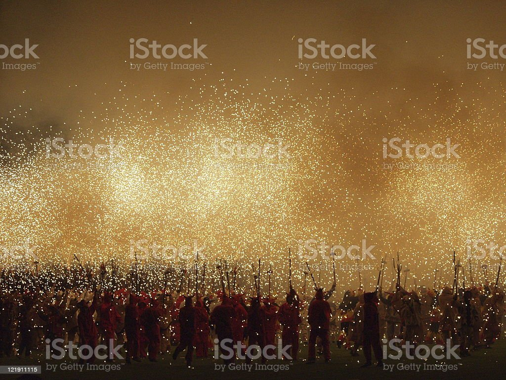Corre Focs stock photo