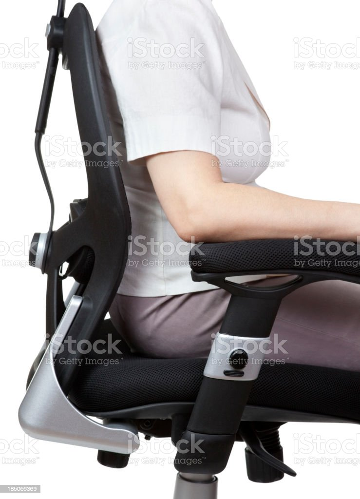 Correct Position For Office Work stock photo