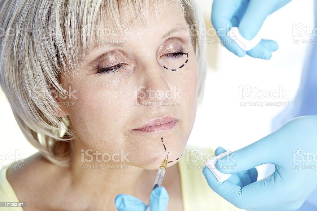 Correcting face stock photo