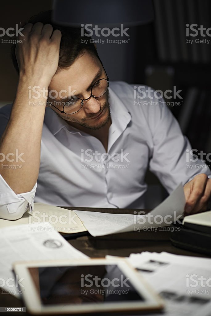 Correcting the article stock photo