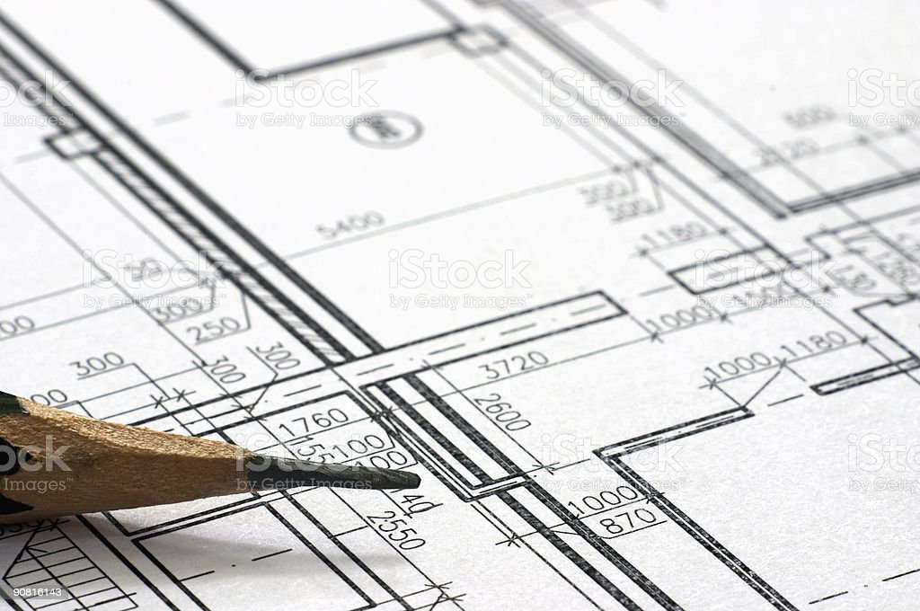 Correction blueprints royalty-free stock photo