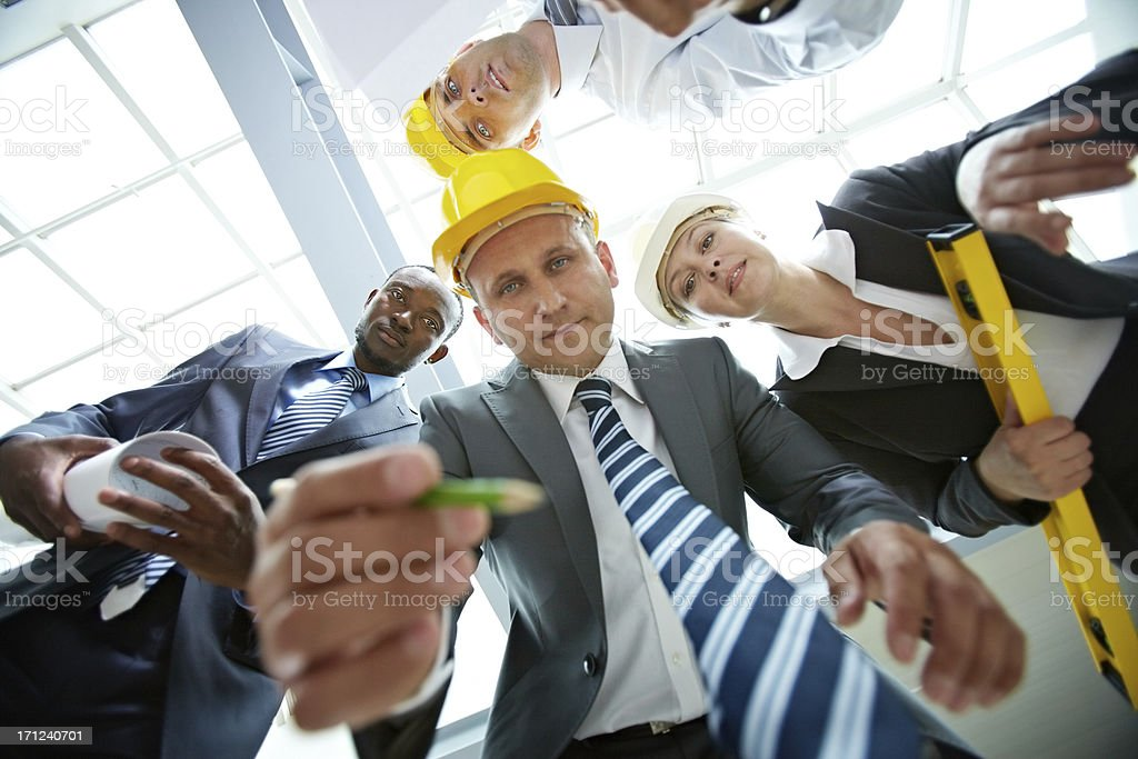 Corrections on project stock photo