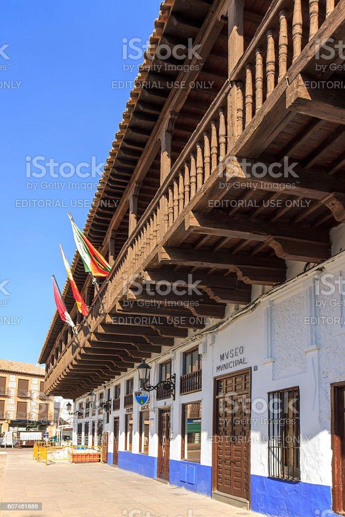 Corredores building in Consuegra, Spain stock photo