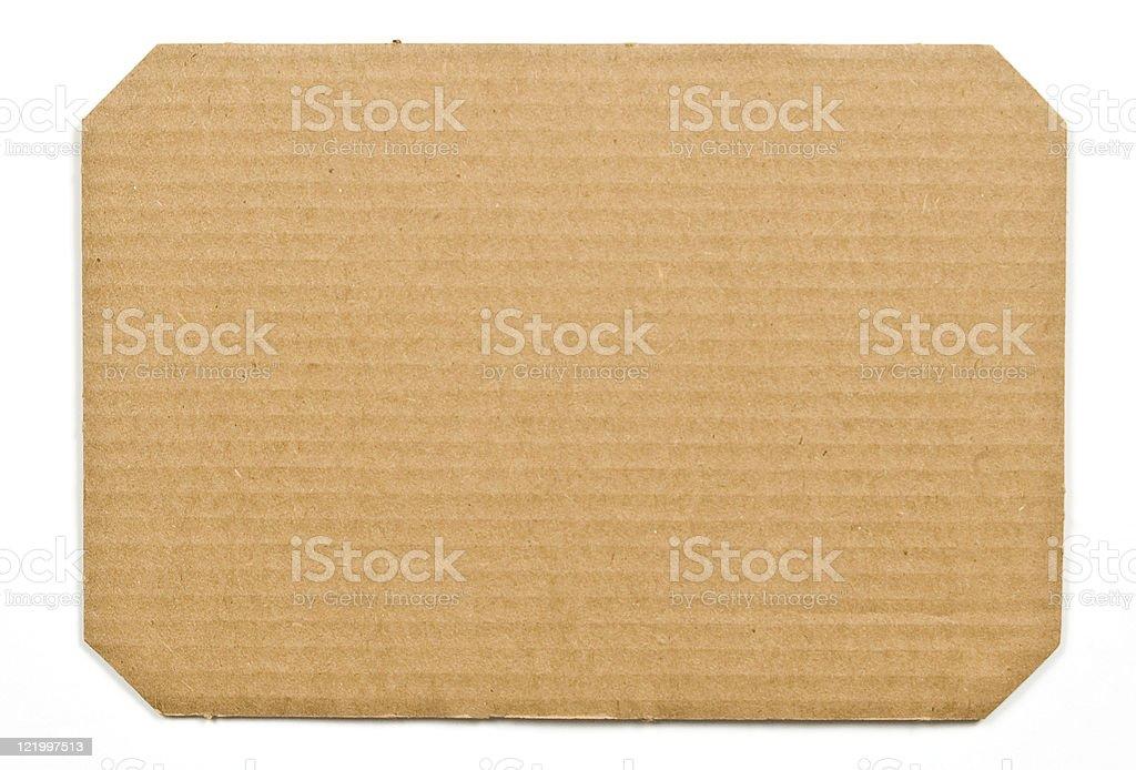 Corregated Cardboard Background royalty-free stock photo