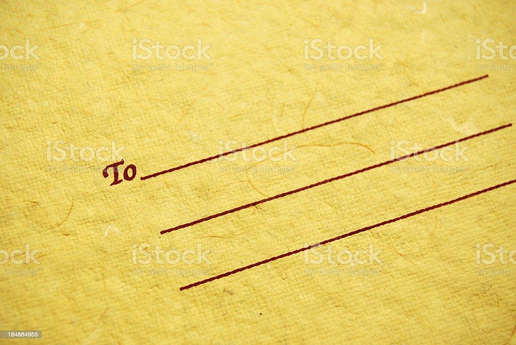 Correspondence stock photo