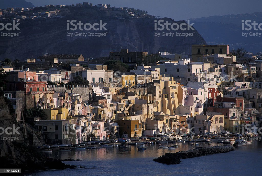 Corricella Village in Procida royalty-free stock photo