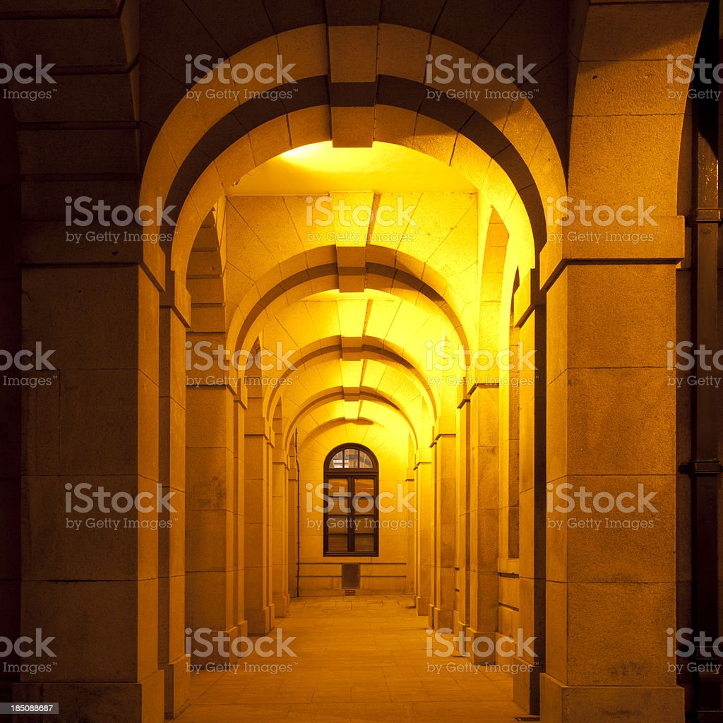 Corridor and archways royalty-free stock photo