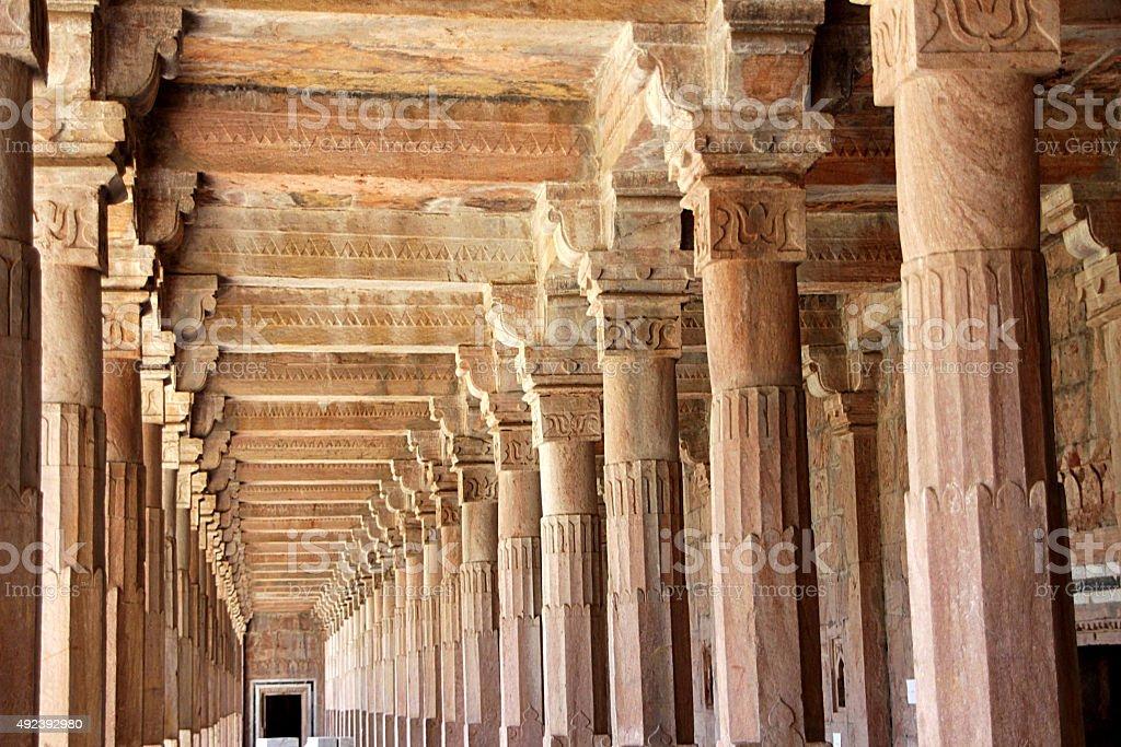Corridor at Jami Masjid, Mandu stock photo