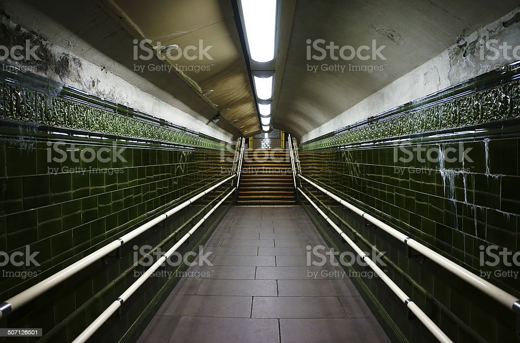 Corridor in a London Underground Station royalty-free stock photo