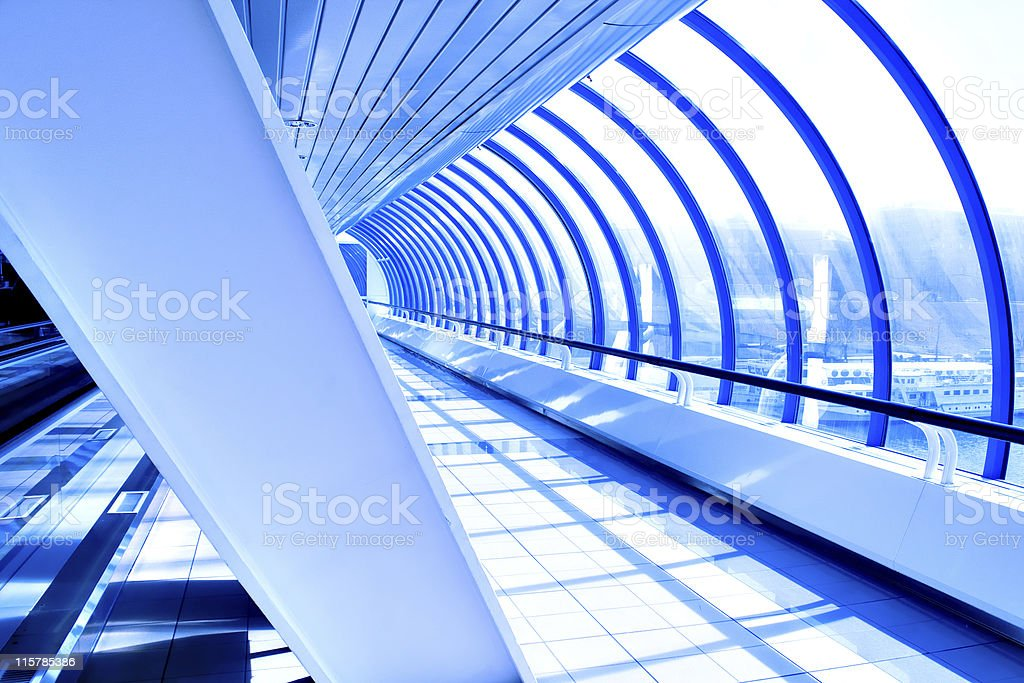 corridor in a modern hotel royalty-free stock photo