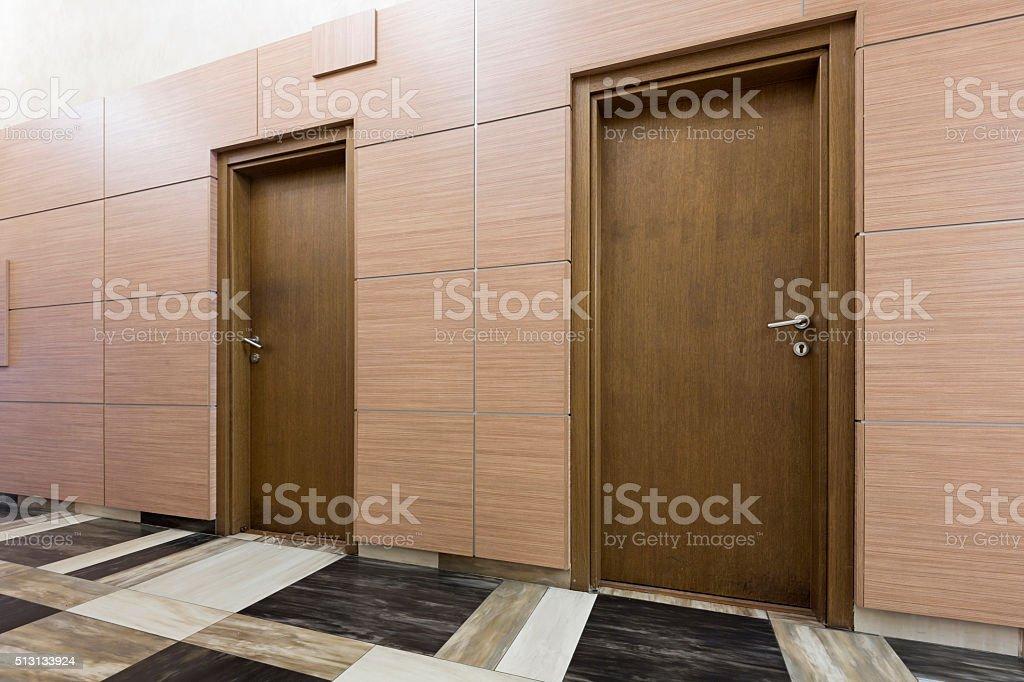 Corridor in an elegant building stock photo