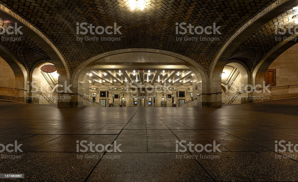 Corridor in Grand Central Station royalty-free stock photo