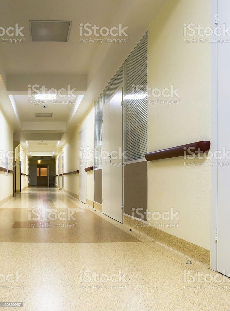 corridor in hospital royalty-free stock photo