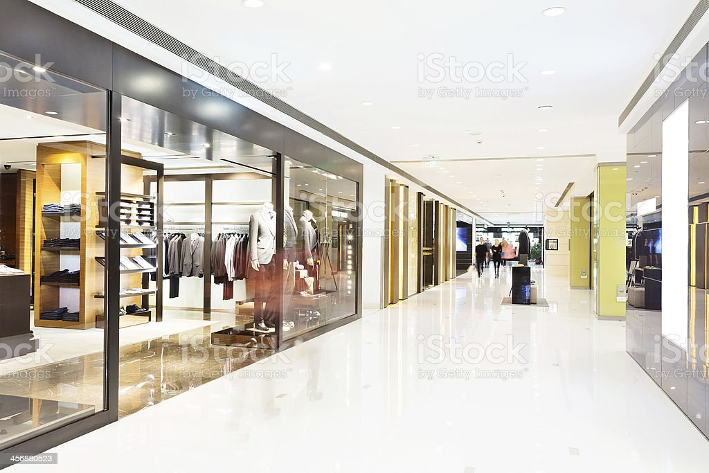 corridor in modern shop stock photo