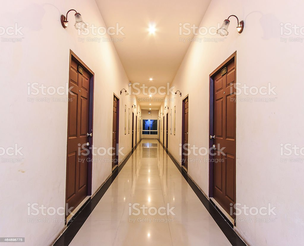 Corridor in the hotel royalty-free stock photo