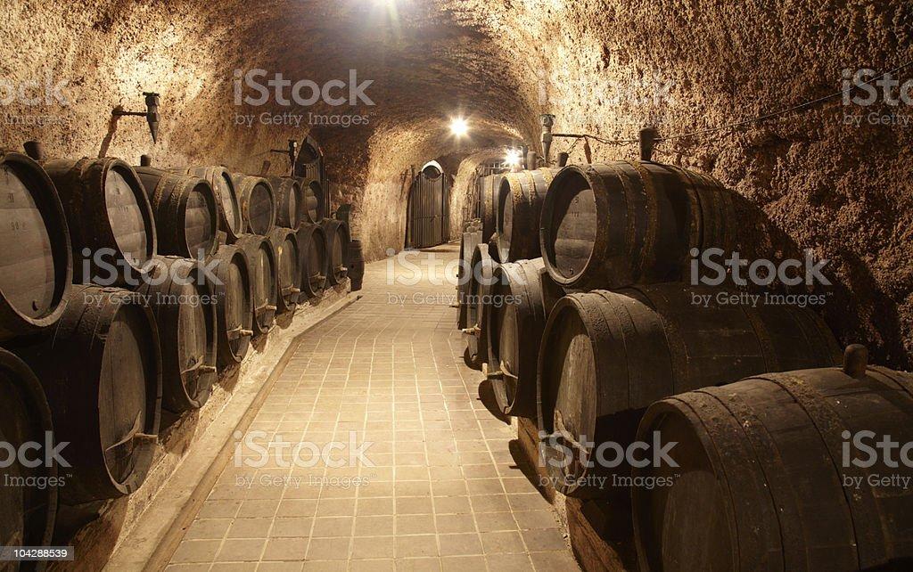 Corridor in winery royalty-free stock photo